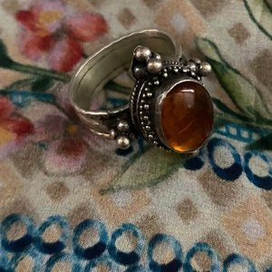 Bohemian Amber Ring